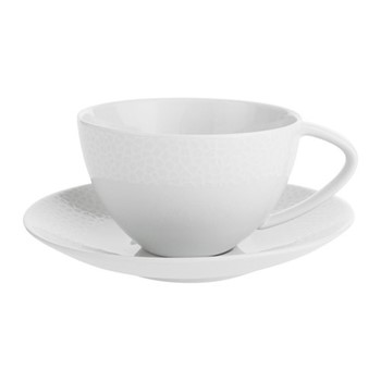 Port Cros Teacup and saucer, D16 x W16cm - 34cl, white