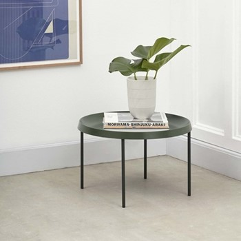 Tulou Coffee table, D55 x H35cm, matt green