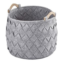 Amy Medium storage basket, 35 x 35cm - 33L, silver