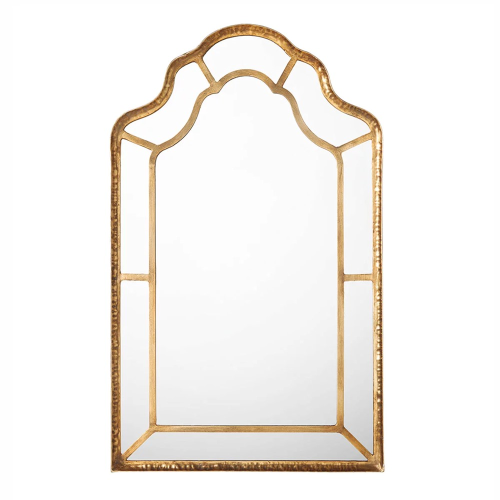 Ballygannon Mirror, L62 x H102cm, Antique Gold Metal