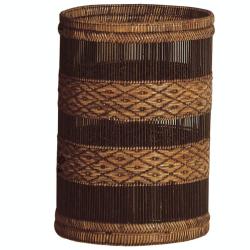 Rattan- Mandalay Waste paper basket, 25 x 35cm, Brown