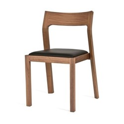 Walnut chair H78 x W49.5 x D49.5cm