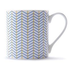 Ebb Mug, H9 x D8.5cm, yellow/blue