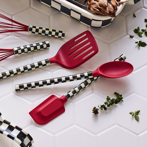 Courtly Check Spoon, 33cm, red