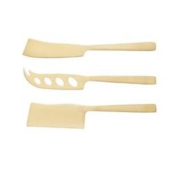 Artesa Set of 3 cheese knife set, brass