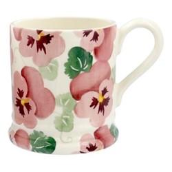 Pink Pansy Mug, 1/2 pint