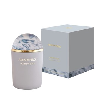 Hamptons - Honeysuckle & Pear Candle and paperweight, L11 x W11 x H16.5cm, sky blue