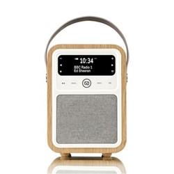 Monty DAB radio and bluetooth speaker, H19 x W13 x D10cm, oak