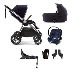 Ocarro 6 piece pushchair and car seat set, dark navy