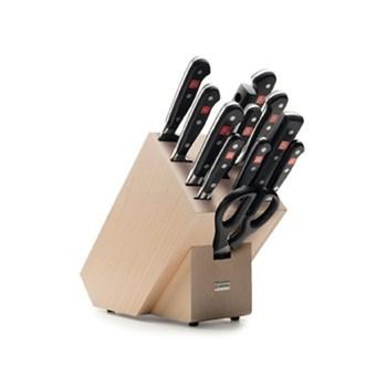 Classic Knife block set 12 piece, beech