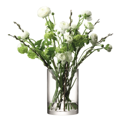 Column Vase/candleholder, 24 x 17cm, clear