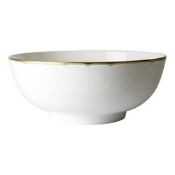 Darley Abbey Pure Gold Salad bowl, white/gold