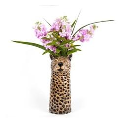 Leopard Large flower vase, L12 x D14 x H28cm