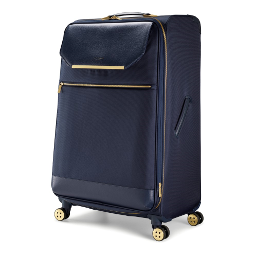 Albany Large 4 wheel spinner suitcase, L80 x W50 x D34cm, Navy