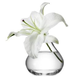 Flower Sprig vase, 11cm, clear