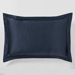 Lanham Oxford pillowcase, 50 x 75cm, midnight