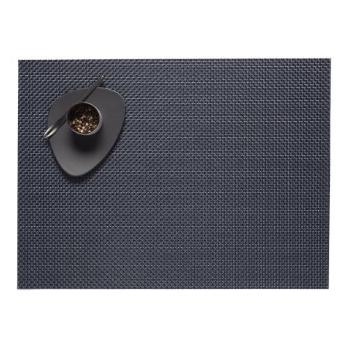 Basketweave Set of 4 rectangular placemats, 36 x 48cm, Navy