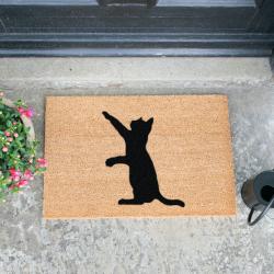 Images Doormat - Cat, Black/Brown