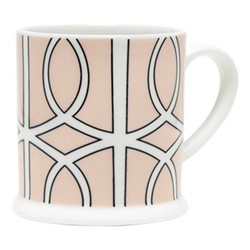 Loop Espresso cup, 6.6 x 6.1cm, blush/white