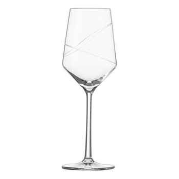 Pure Loop Set of 6 white wine glasses, H22 x D7.6cm - 300ml, clear