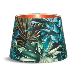 Lush Succulents Cone lampshade with metallic gold lining, H30 x L45 x W45cm, multi