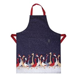 Geese - Repeat Apron, 66 x 85cm, blue