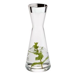 Tavola Decanter, H21cm - 25cl, crystal and sterling silver