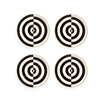 Op Art Coasters, Black/White