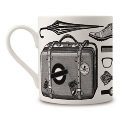 Gentleman'S Mug, H9 x Dia 8cm, black/white