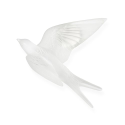 Hirondelles Wall swallow wings up, H88 x L153 x W166mm, Clear