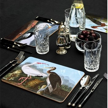 Vintage Birds - Set 2 Set of 4 rectangular table mats, 29.2 x 21.6cm