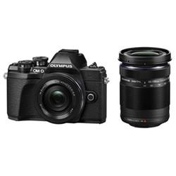 OM-D E-M10 Mark III Camera with 14-42 & 40-150mm lens, 16.1MP, black