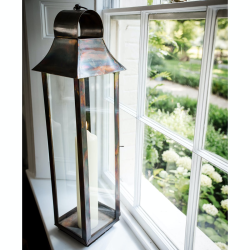 Tonto Lantern - medium, 80 x 19 x 19cm, Burnished Copper