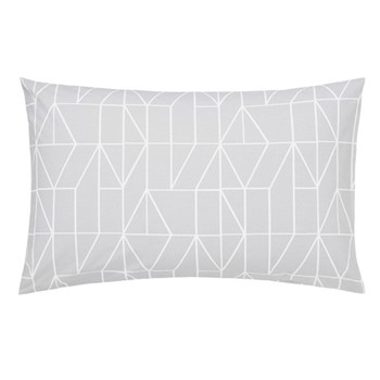 Nuevo Standard pillowcase, L48 x W74cm, blush and charcoal