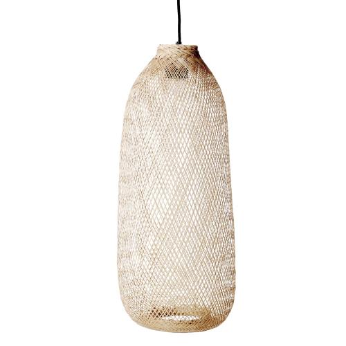 Evert Pendant lamp, H65 x D25cm, Beige/ Natural