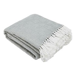 Diamond Throw, L230 x W130cm, dove grey