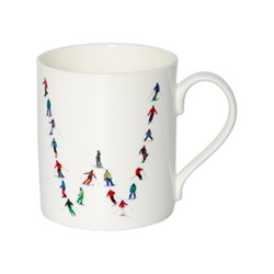Alphabet - W Mug, H9.5 x W10.5 x D8.5cm - 35cl, muti