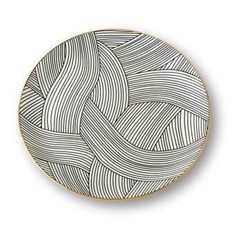 Lustre Dinner plate, D28.5cm, black dhow