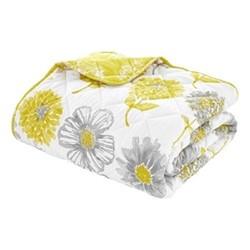 Banbury Floral Bedspread, 220 x 230cm, yellow