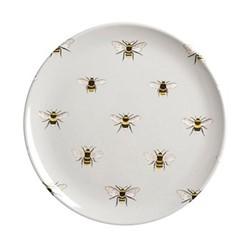 Bees Set of 6 melamine side plates, 20.3cm