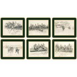 Traditional Range - Peter Biegel Set of 6 coasters, 11 x 9cm, bottle green