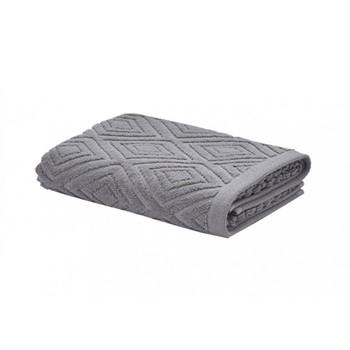 Diamond Sculpture Bath Towel, 70 x 120cm, charcoal