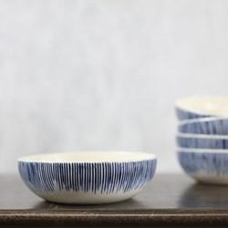 Karuma Cereal bowl, H5.5 x D15cm, blue and white ceramic