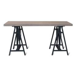 Workshop trestle desk, H75 x D160 x W80cm, carbon/spruce