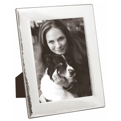 Tampani Photograph frame, 10 x 8'', Hammered Sterling Silver With Blackwood Finish Back