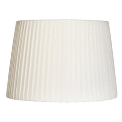 Pleated Pleated linen shade, D35 x H24cm, white