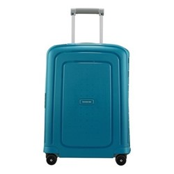 S'Cure Spinner suitcase, 55 x 40 x 20cm, petrol blue stripes