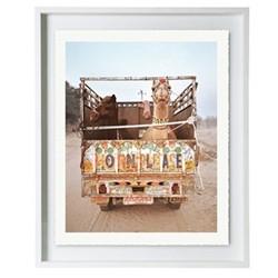 Pushkar IV by Helene Sandberg Framed fine art photographic print with deckled edge, H57 x W49 x D3.3cm, white frame