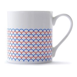 Ripple Mug, H9 x D8.5cm, red/blue