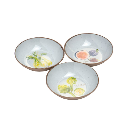 Alfresco Dipping Bowls, Set of 3, with rafia Tie
